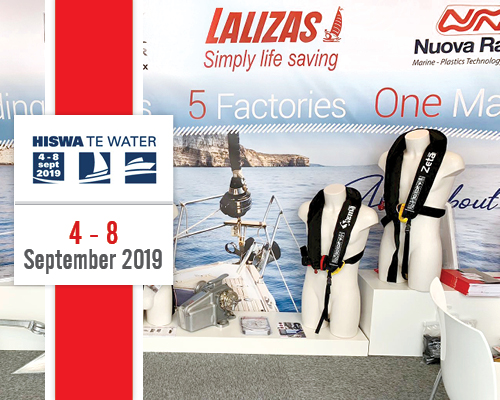Northern Europe welcomes LALIZAS: company's well-known lifesaving equipment was presented at the HISWA Boat Show!