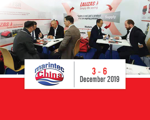 LALIZAS in Shanghai; taking part as exhibitors at the MarinTec 2019!