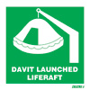 Dav. Launched Liferaft
