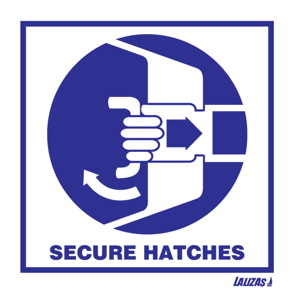 LALIZAS IMO SIGNS - Secure Hatches