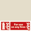 For Use On Any Fires (10x30)