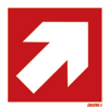 Diagonal Arrow Red