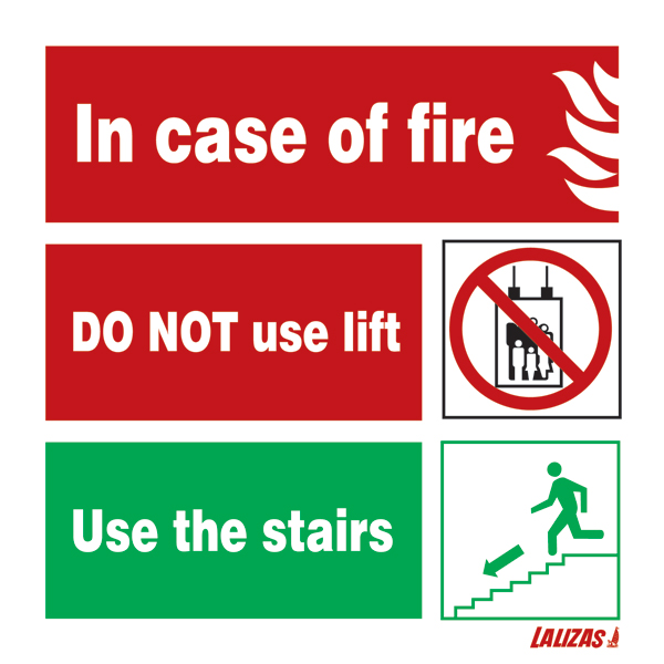 Lalizas Imo Signs In Case Of Fire Use Stairs