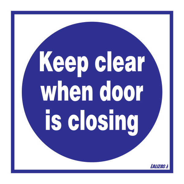 Keep Clear Of Swinging Door : Lalizas imo signs keep clear when door is closing