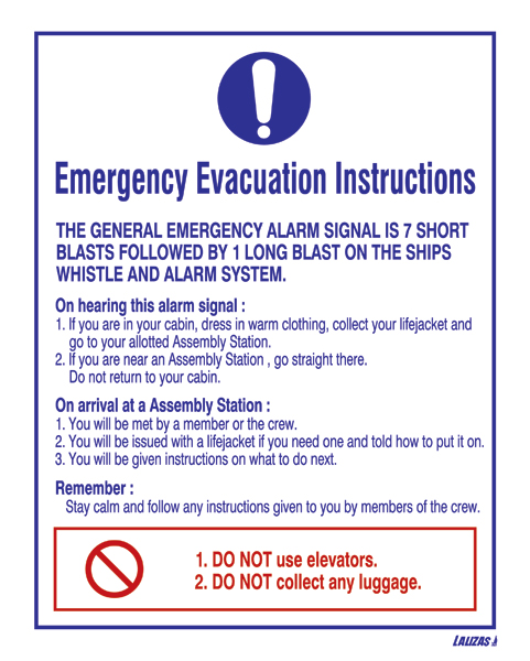 fire drill instructions sample