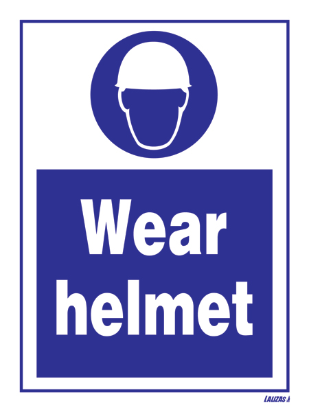 Lalizas Imo Signs Wear Helmet