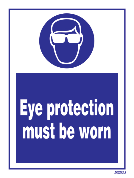 Lalizas Imo Signs Eye Protection Must Be Worn