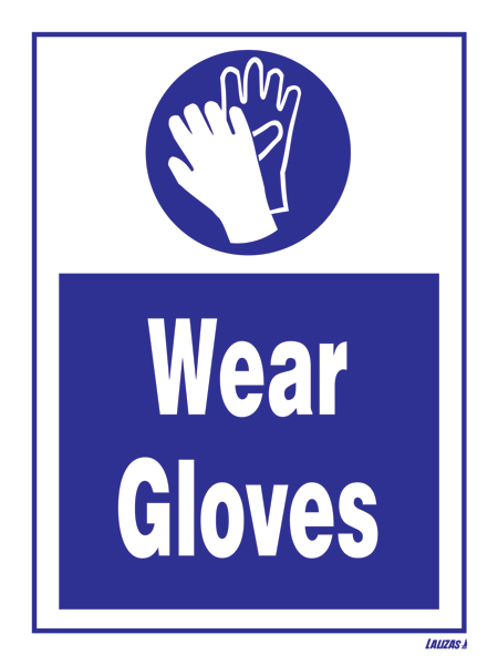 Lalizas Imo Signs Wear Gloves
