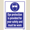 Eye Protection Is Provided For Yr Safety & Must Be Worn
