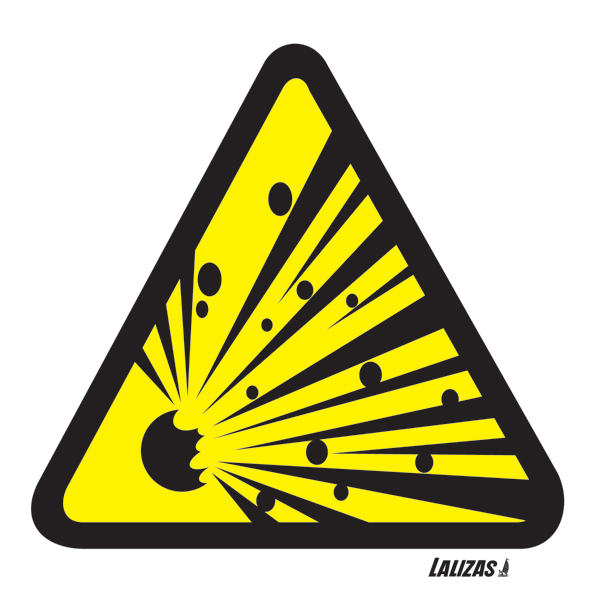 LALIZAS IMO SIGNS - Explosion Risk