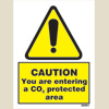Caution - Co2 Protected Area