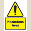 Warning - Hazardous Area