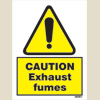 Caution - Exhaust Fumes