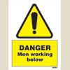 Danger Men Working Below (15x20)