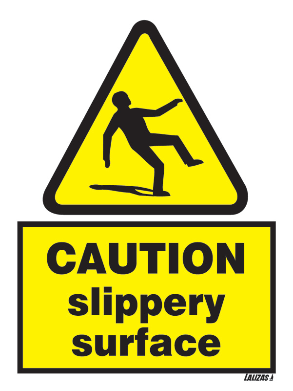 Lalizas Imo Signs Caution Slippery Hazard