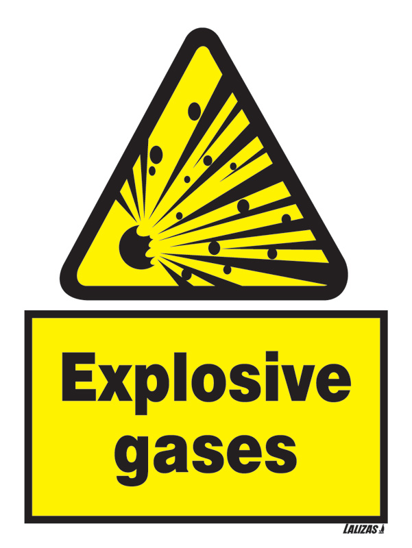 Lalizas Imo Signs Caution Explosive Gases