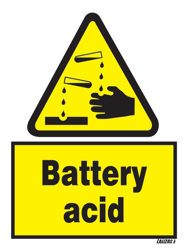 Lalizas Imo Signs Battery Acid