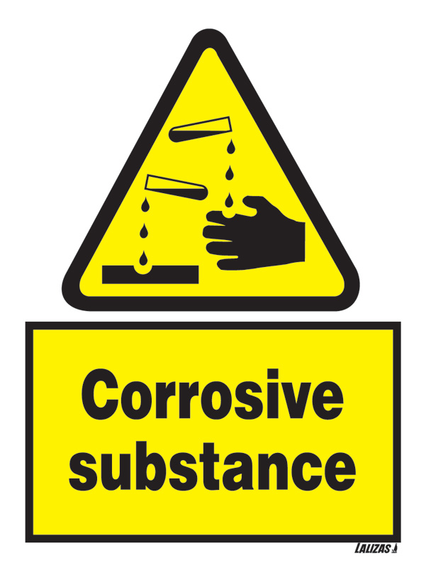 Lalizas Imo Signs Danger Corrosive Substance