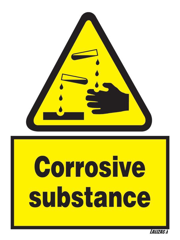 """Danger Corrosive, 8.5"""" x 11"""", Rigid Vinyl - Chemical Awareness ..."""