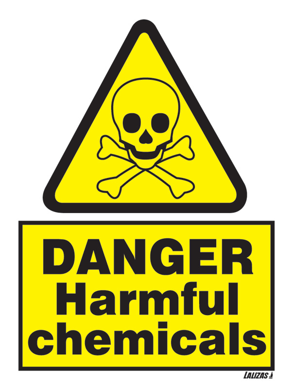 Lalizas Imo Signs Danger Harmful Chemicals 15x20