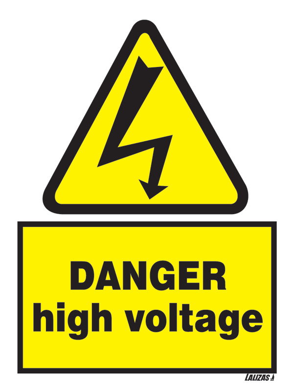 Lalizas Imo Signs Danger High Voltage