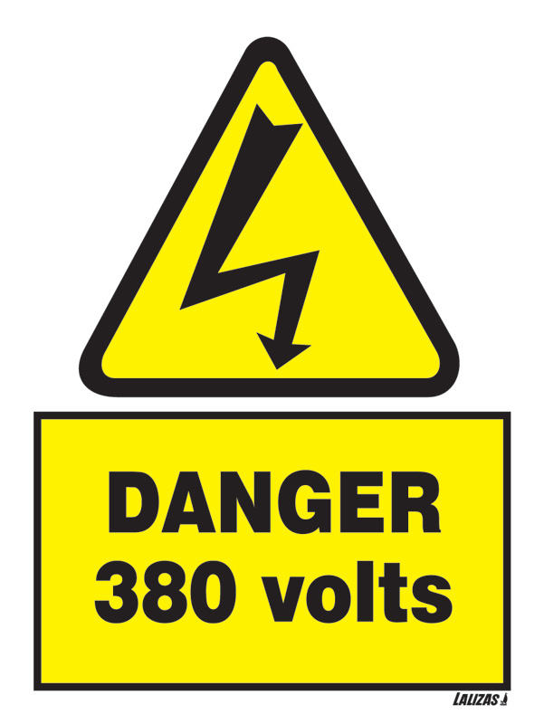 Lalizas Imo Signs Danger 380 Volts