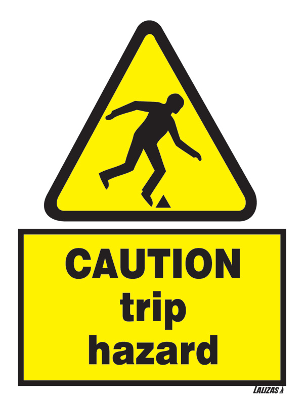 Lalizas Imo Signs Caution Trip Hazard