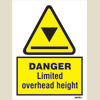 Danger - Limited Overhead Height