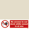 No Access To Car Deck