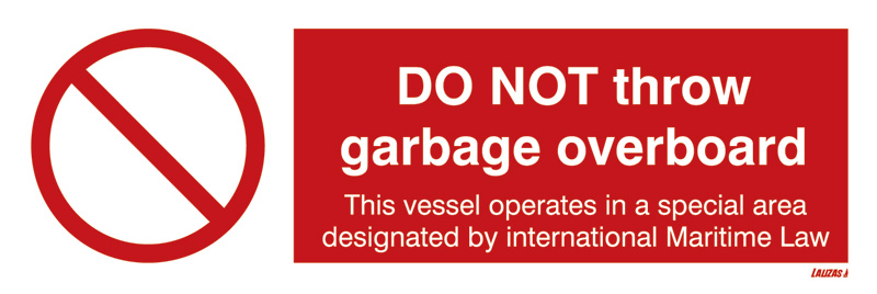 Lalizas Imo Signs Do Not Throw Garbage Overboard