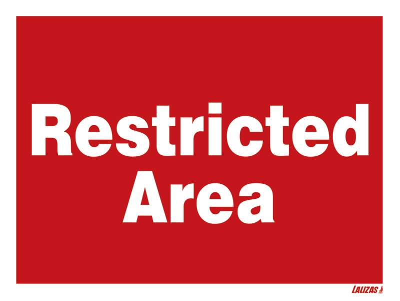 Lalizas Imo Signs Restricted Area