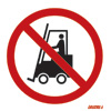 Fork Lift Trucks Prohibited In Pedestrian Route
