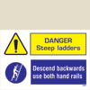 Danger - Steep Laders