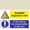 Danger Explosion Risk/remove Bottles