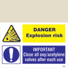 Danger Explosion Risk/important