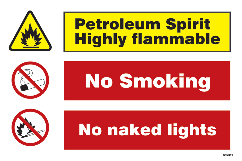 Petroleum Spirits Highly Flammable