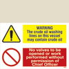 Warning - Crude Oil Washing Lines