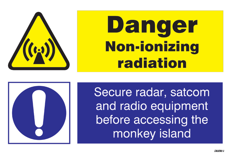 LALIZAS IMO SIGNS - Danger Non Ionizing Radiation