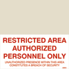 Restricted Area Authorised Persons Only (25x50)