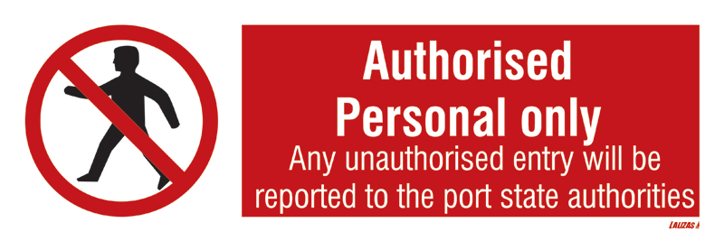 Isps - Authorised Personal Only - Man