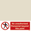 Isps - No Unauthorised Personal Beyond This Point -man