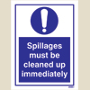 Spillages Must Be Cleaned Up
