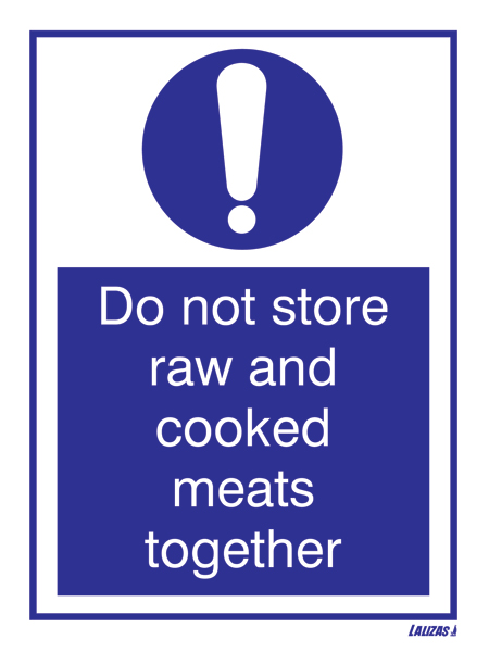 Do Not Store Raw & Cooked Meats Together (15x20)