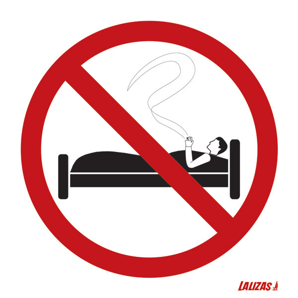 Lalizas Imo Signs - No Smoking In Bed-3448