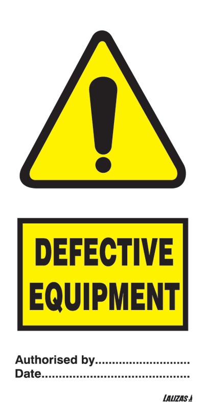 LALIZAS IMO SIGNS - Defective Equipment