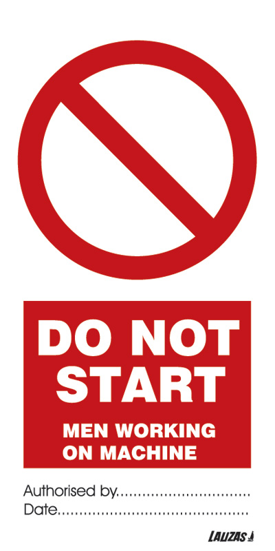 Do Not Start - Men Working On Machine