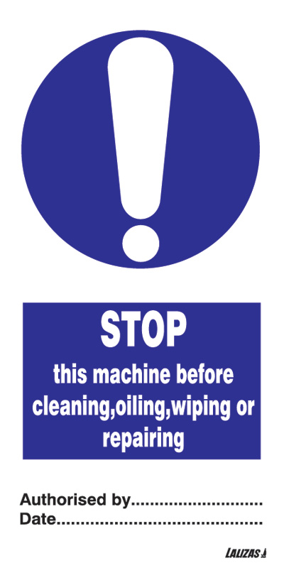 Stop This Machine Before Cleaning
