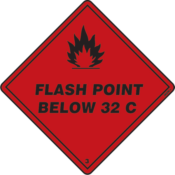 Class 3 - Flash Point Below 32c