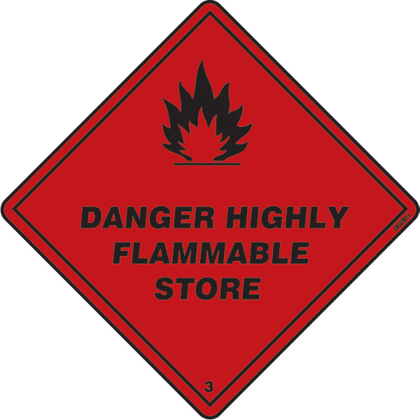 Class 3 - Danger - Highly Flammable Store