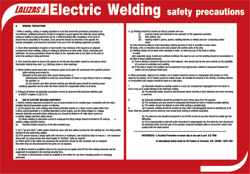 Lalizas Imo Signs Electric Welding Poster